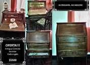 Imperdible!!! antigua cómoda o escritorio secreter estilo inglés excelente estado!