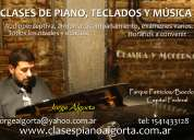 Clases teclados, piano, musica, profesor