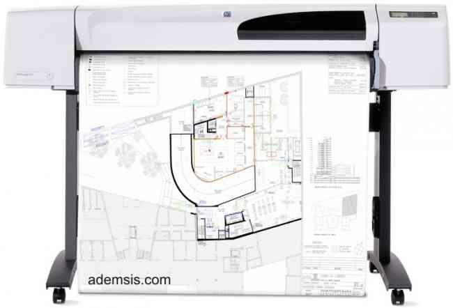impresión de planos , dibujos lineales y afiches