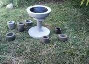 macetas de cemento gris modelos y tamaños varios segunda mano  Muebles
