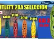 Kayak sit on top sun rider 0 km con remo incluido + embale de seguridad.