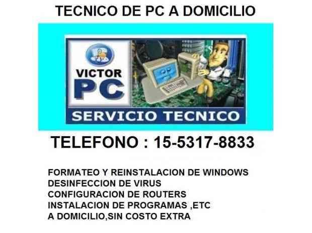 REPARACION DE PC A DOMICILIO