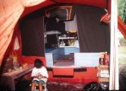 Excelente trailer carpa p/6 personas