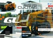 Excelente minicargador iron xt 740 de 0.45 m3 780 kg