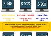 Sitio web $ 960 o 12 cuotas fijas de $ 100