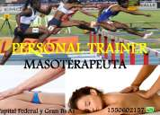 Personal trainer y masoterapia capital federal
