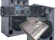 Alquiler de sonido completo para fiestas