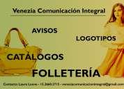 Diseño grafico folletos catalogos logotipos avisos