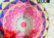 Mandalas colgantes de vidrio únicas – reiki yoga arte elglobo deco