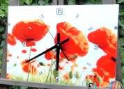 relojes pared deco de vidrio! exclusivos de elglobo deco