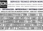 Servicio tecnico epson para imrpesoras epson con o sin sistemas continuos