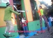 Shows para el dia del niño, magos payasos ventrilocuo titeres maquilladoras mimos estatuas vivas