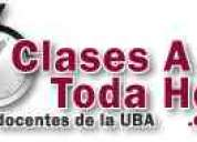 Clases particulares de  analisis y algebra  cbc