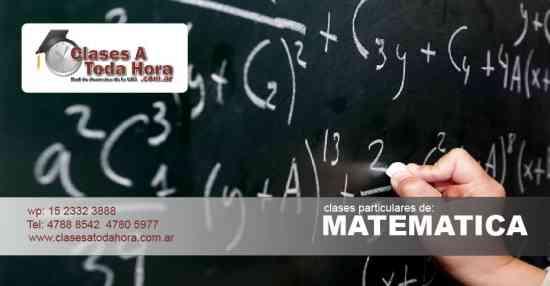 Clases particulares de Matematica para secundario