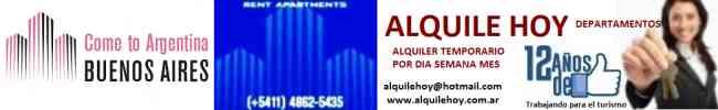 alquiler xdia semana mes departamentos  Buenos aires5491130779977