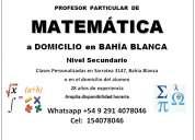 Profesor particular de matemática a domicilio en bahía blanca
