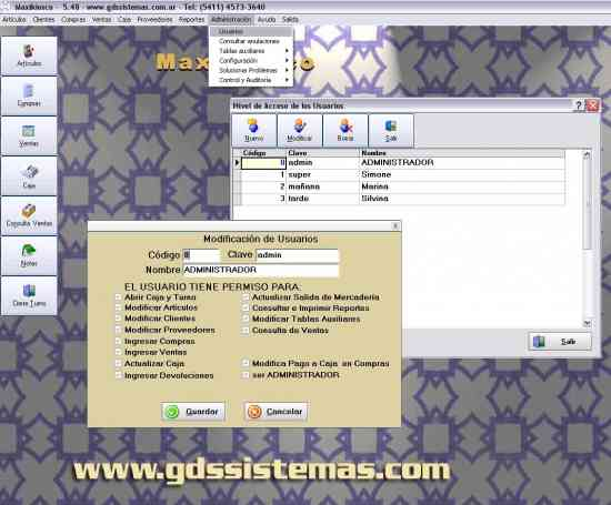 Software Maxikiosco 5.50 Pruébelo primero, cómprelo después soporte y garant