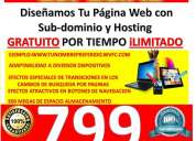 Paginas web profesionales exclusivas desde 799$