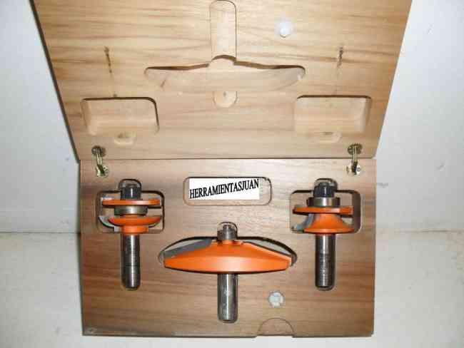 Herramientas para la carpintería de madera modelo CMT para fabricar puertas de cocinas etc