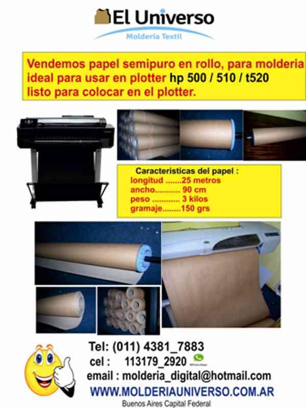 venta de papel semipuro para plotters 500/t520/510