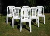 Alquiler de sillas de plastico