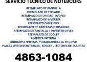Servicio tÈcnico de notebooks netbooks con garantia te:48631084