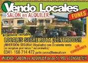 Vendo locales funes..sobre ruta centricos..dueÑo sin gastos