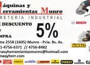 Maquinas y herramientas munro ferreteria industrial maqyherr 011-4756-6371