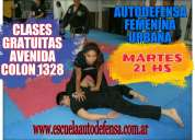 Autodefensa femenina urbana gratis