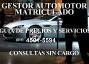 Gestor automotor matriculado–consultas sin cargo -guia de precio-