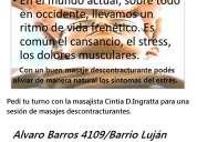 masajes descontracturantes y sedantes para el estrés, los dolores musculares