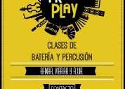 clases de batería / percusión en caseros.