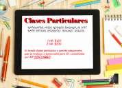Clases particulares de matemática, física, quimica e ingles