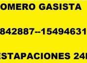 Gasista villa ortuzar 45842887 o 1537274907 calefones termotanques