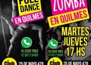 Clases de pole dance y zumba en quilmes
