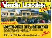 Vendo locales funes..centro sobre ruta..mejor precio y con renta inmediata