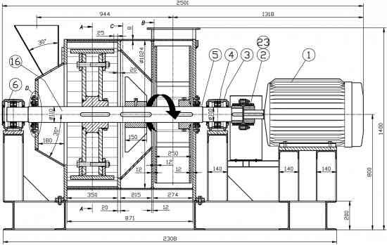 Molino Pulverizador, planos completos de todas las