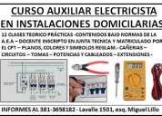 Curso de electricidad - auxiliar electricista domiciliario-