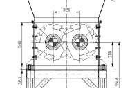 Triturador de dos ejes. planos completos de piezas