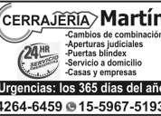 Cerrajeria martin en lanus 4264-6459 a domicilio 24 hs