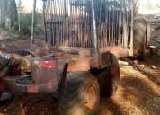 Vendo carro forestal con tractor. buen estado.