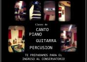 "Clases de canto, piano, guitarra y bombo en ""the music room""!!"