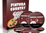 Completo video curso online de pintura country