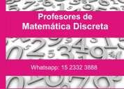 Clases particulares de matematica discreta