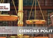 Clases particulares de ciencias políticas cbc