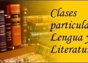 Profesor de lengua y literatura secundarios clases particulares