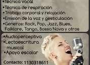 Clases de canto, guitarra y piano grupales/individuales