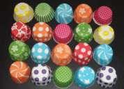 Fabrica de pirotines para cupcakes nro. 10 estampados y lisos de colores