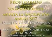 Profesorado de yoga meditación escuela yoga darshana san isidro