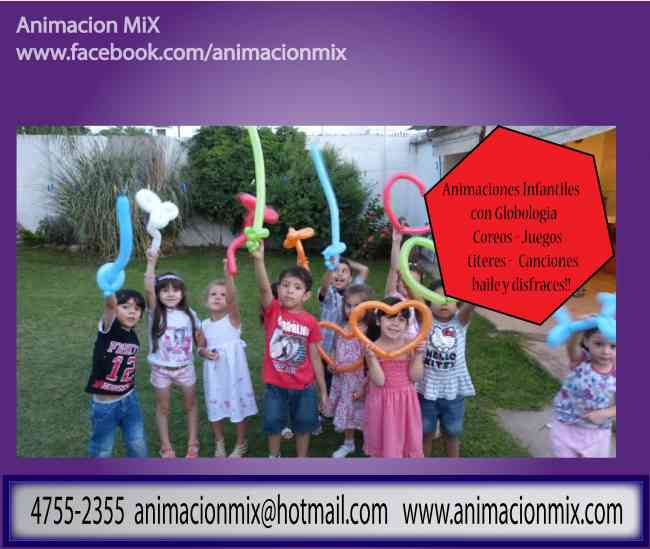 Animaciones infantiles con Globologia 011 4755-2355